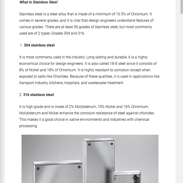 What Is Stainless Steel Made Of >> Mix Top 7 Benefits Of Stainless Steel Enclosures Lean More About