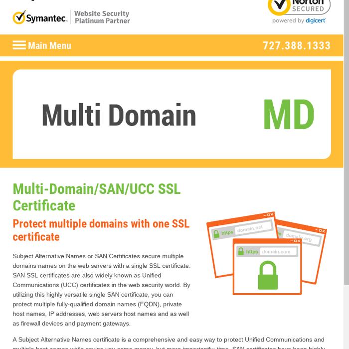 Mix San Ssl Or Ucc Ssl Or Multi Domain Ssl To Secure 250 Websites