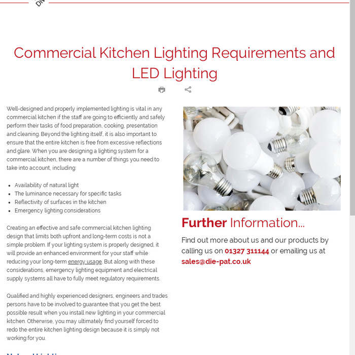 Mix Commercial Kitchen Lighting Requirements And Led Lighting