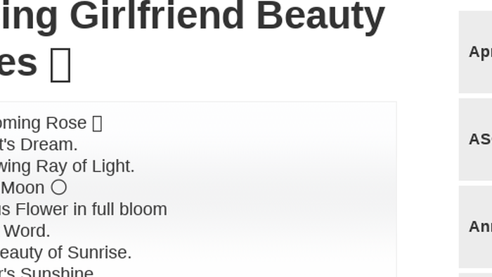 Mix Praising Girlfriend Beauty Quotes You Are So Beautiful