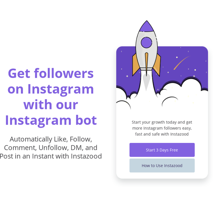 Mix · Instagram bot for follow, like, comment, unfollow