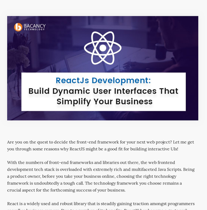 Mix · ReactJs Development: Build Dynamic User Interfaces