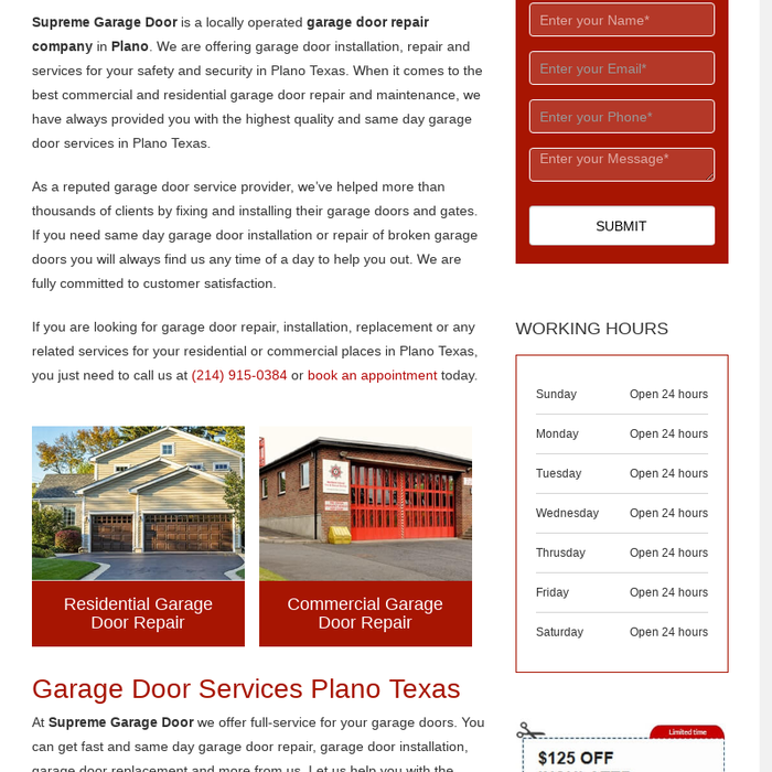 Mix · Garage Door Repair Plano, TX - Supreme Garage Door