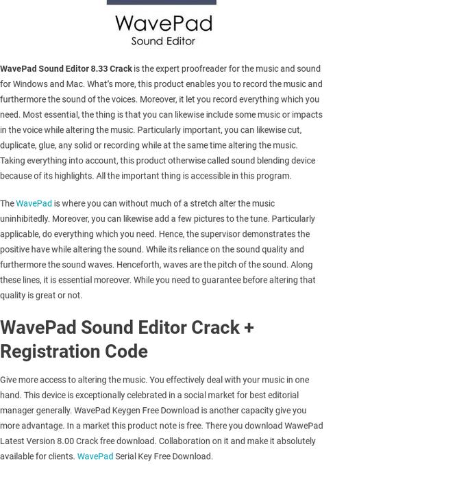Wavepad sound editor free download crack | Wavepad Sound Editor 8 43