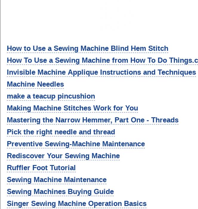 Mix · Free Sewing Patterns - Sewing machines - 25 Sewing Patterns ...