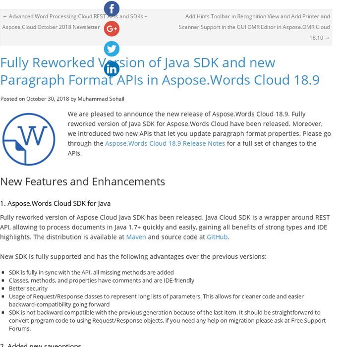 Mix · Fully Reworked Version of Java SDK and new Paragraph
