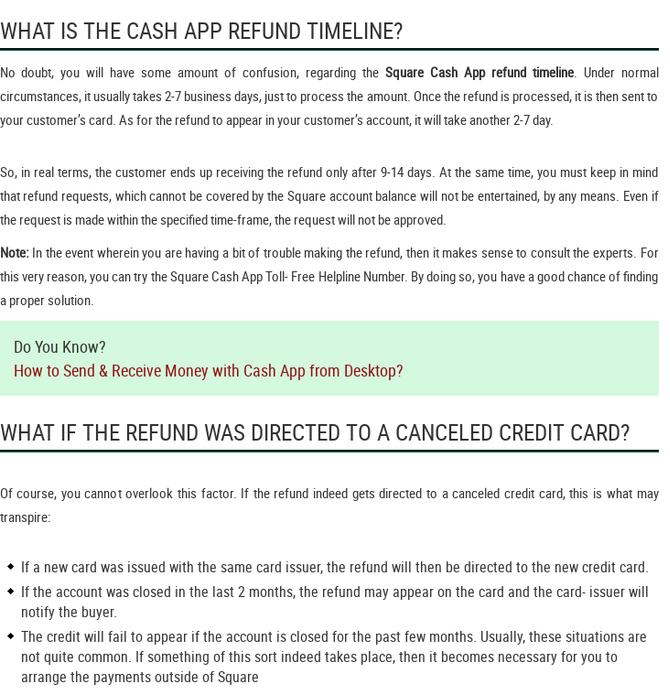 Mix · Square Cash App Refund