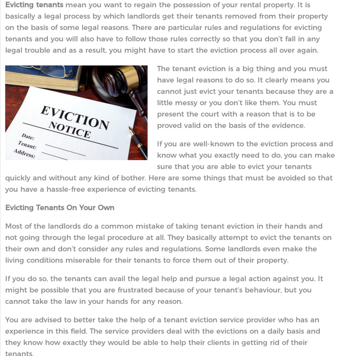 Mix · What Not To Do While Evicting Tenants? - Tenant