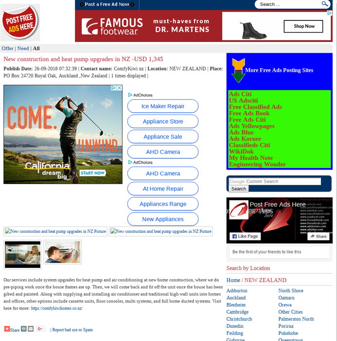 Free classifieds auckland
