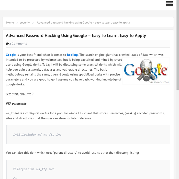 Mix · Advanced password hacking using Google – easy to learn