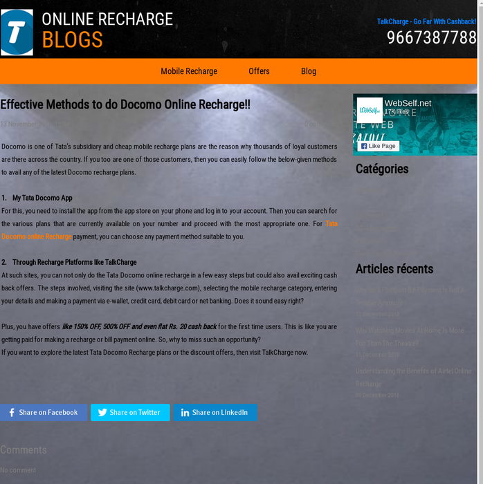 talkchargeindia · Online Mobile Recharge · Posts