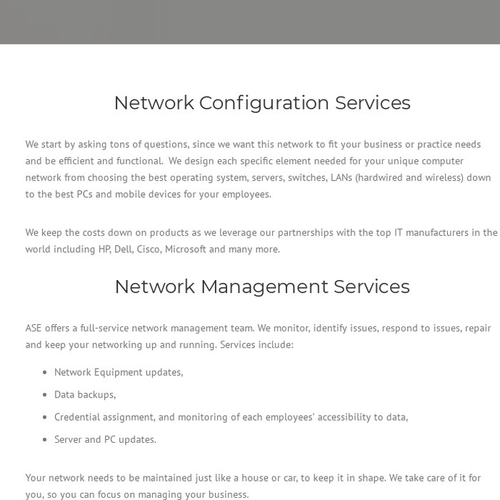 Mix · Network Configuration   Network Support Company   Network