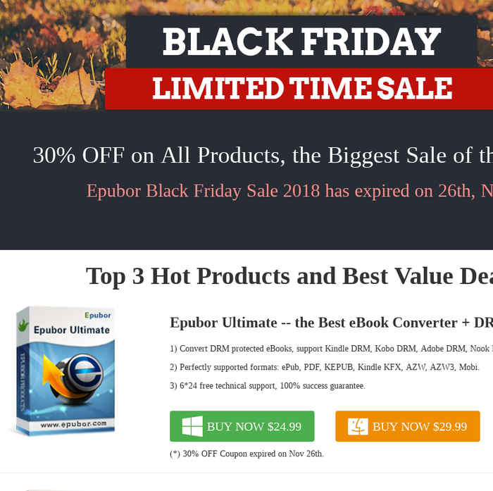 Mix · Epubor Black Friday Sales - 30% OFF for All!