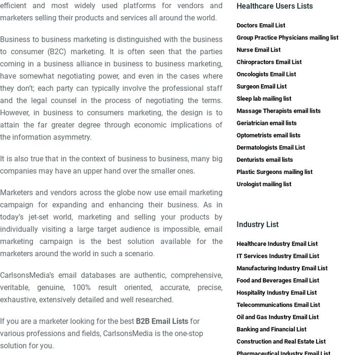 carlsonsmedia · b2b email list providers · Posts
