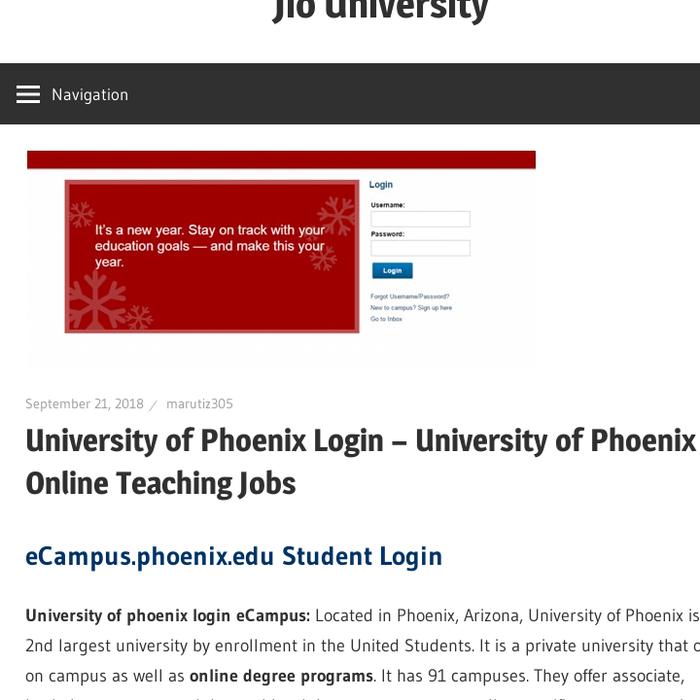 www ecampus phoenix login