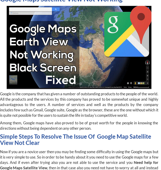 Mix · Google Maps Satellite View not Working – How To Fix