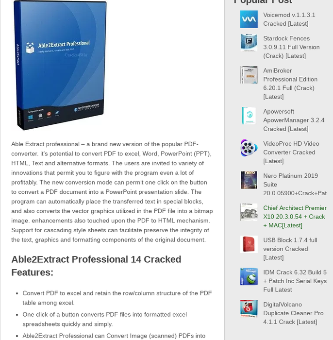 software convert pdf to word full crack