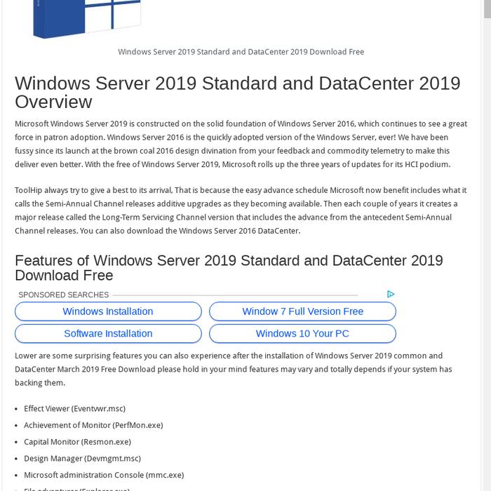 Mix · Windows Server 2019 Standard and DataCenter 2019