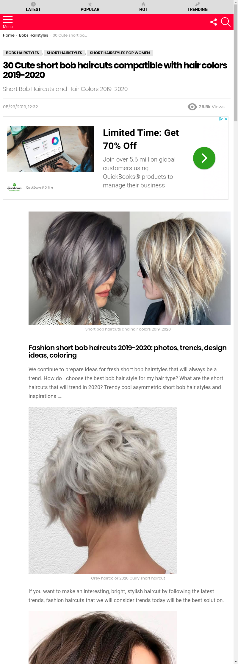 short bob hairstyles 2020
