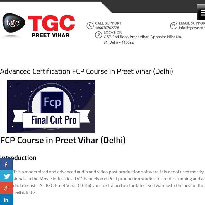 Mix Advanced Certification Fcp Course Preet Vihar Delhi Fcp