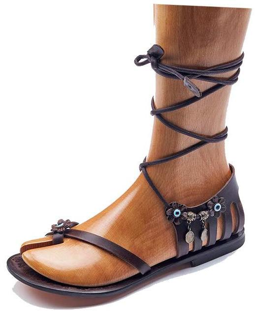 874b0aeba Handmade Leather Strappy Sandals - Womens Leather SandalsHandmade Leather  Strappy Womens Sandals by they are 100% natural leather and handmade and  high ...
