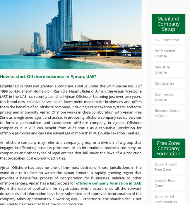 Mix · Ajman Offshore Company Formation | UAE Offshore Business Setup |