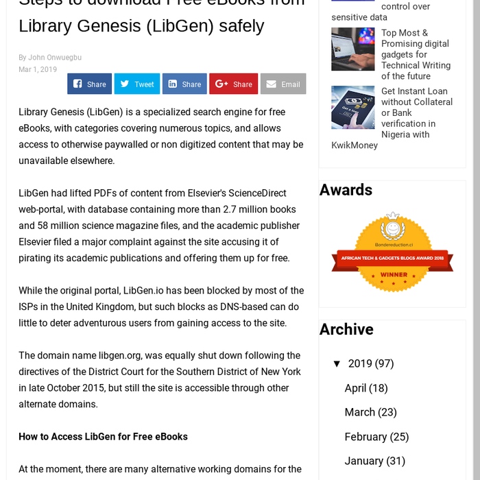 Mix · Steps to download Free eBooks from Library Genesis (LibGen) safely