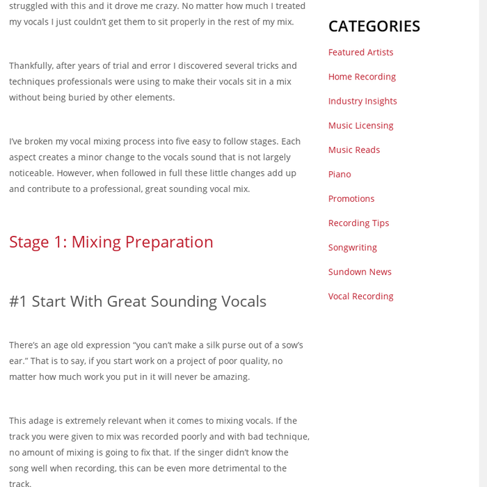 Mix · 17 Professional Tips for Mixing Lead Vocals | Sundown