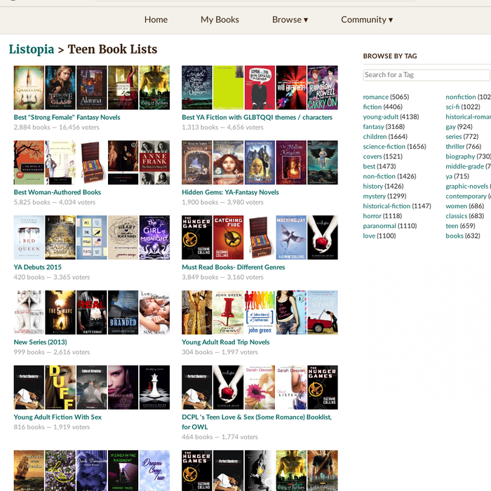 goodreads.comTeen Book ListsLists about: Best Strong Female Fantasy Novels,  Best YA Fiction with GLBTQQI themes / characters, Hidden Gems: YA-Fantasy  Novels ...