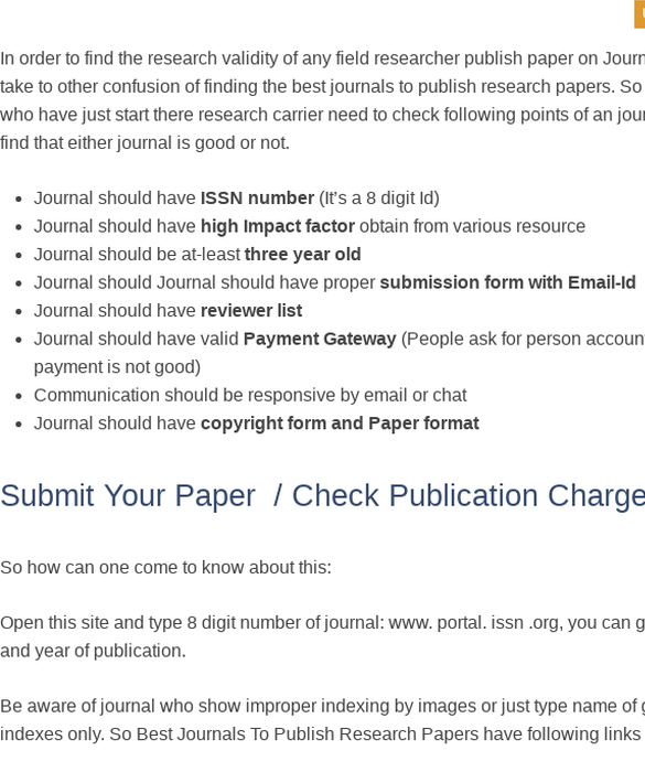 free research paper publication
