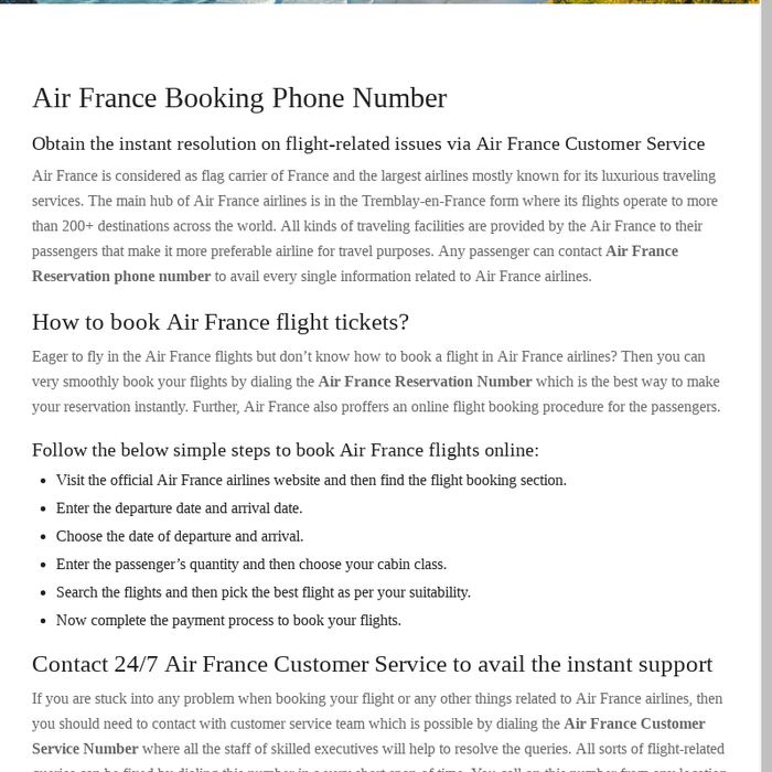 Mix · Air France Booking Phone Number   1-844-313-4736