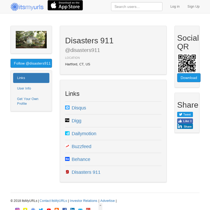 Mix · Disasters 911's URLs