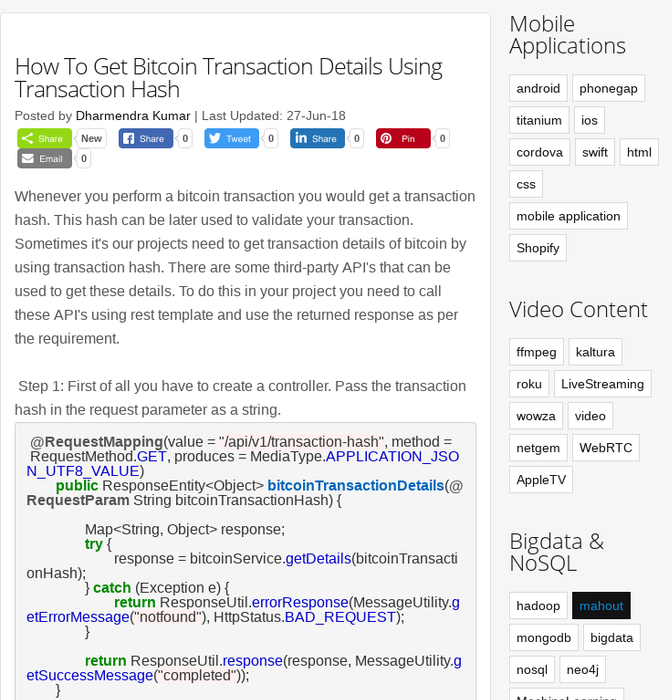 Mix · How To Get Bitcoin Transaction Details Using