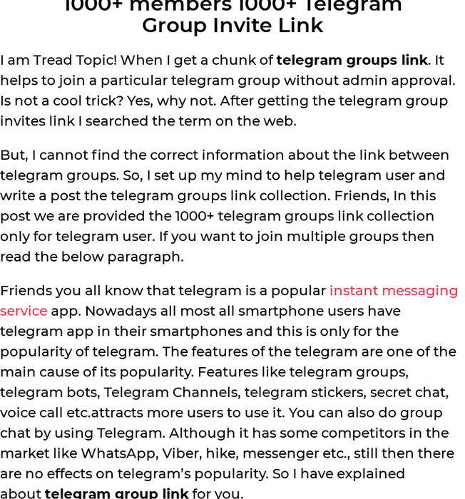 Mix · 1000+ members 1000+ Telegram and 1000+ Whatsapp group Join