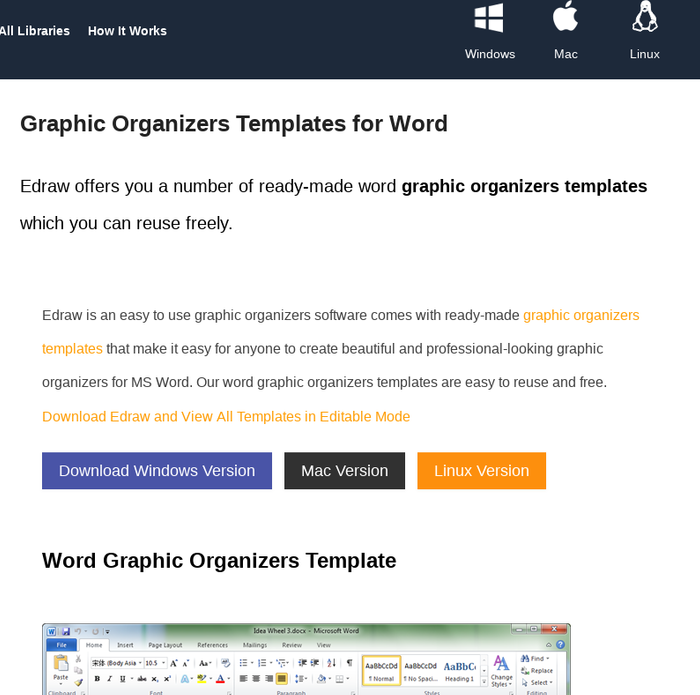 Mix Graphic Organizers Templates For Word