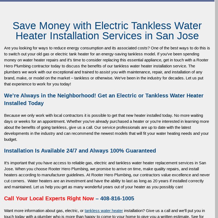 Mix · Electric and Tankless Water Heater Installation Services in