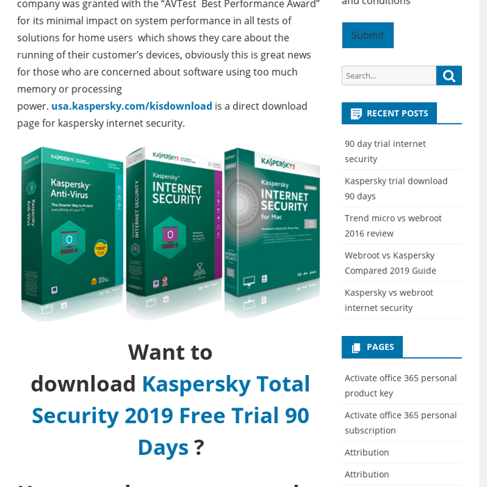 Top Five Kaspersky Total Security 2019 90 Days Trial