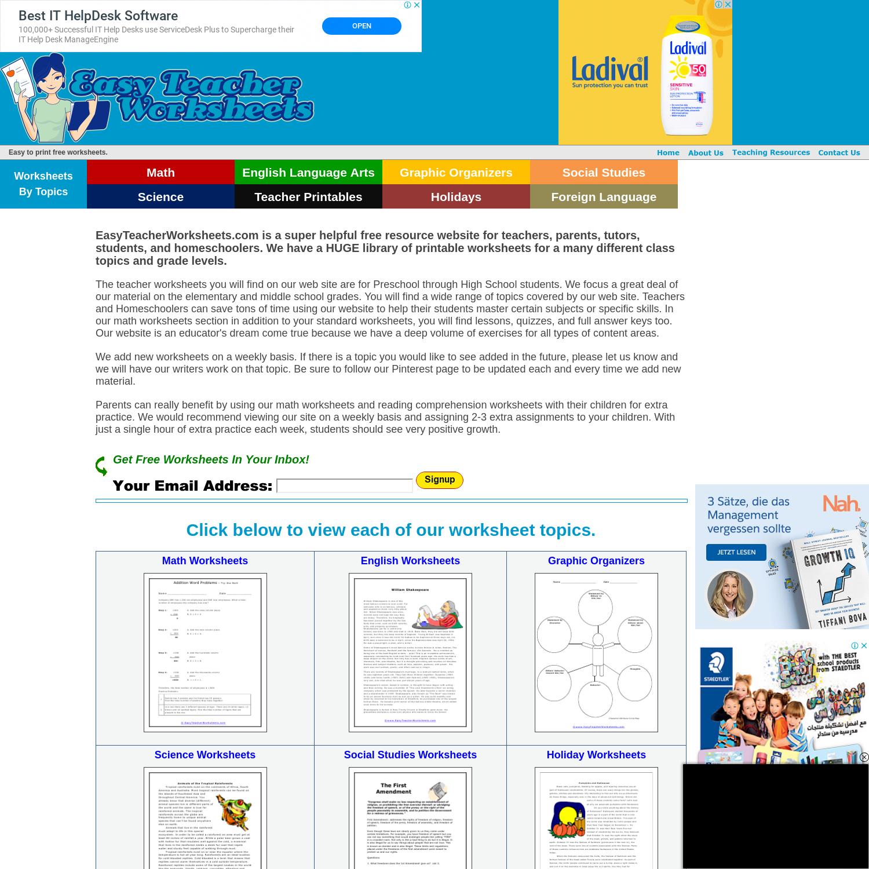 - Mix · Search Domain · Easyteacherworksheets.com