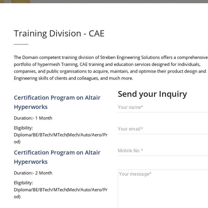 Mix Altair Hyperworks Certification Streben