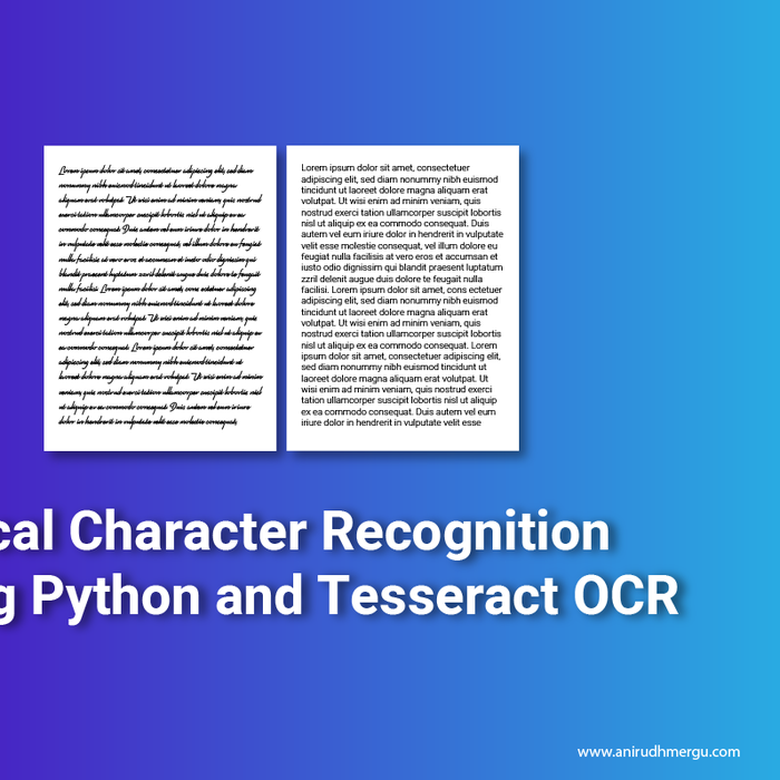 Mix · Optical Character Recognition using Python and Google