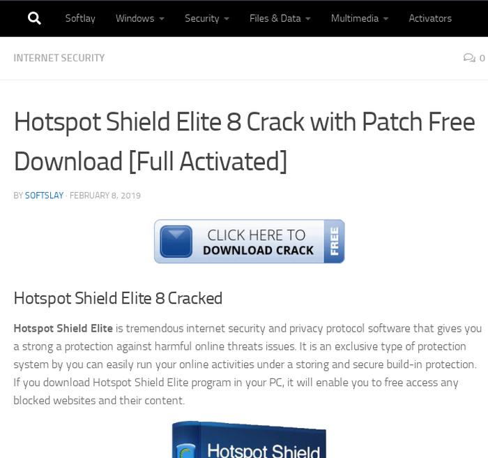 download hotspot shield elite patch
