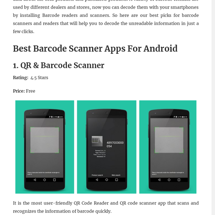 Mix · 10 Best Barcode Scanner Apps For Android