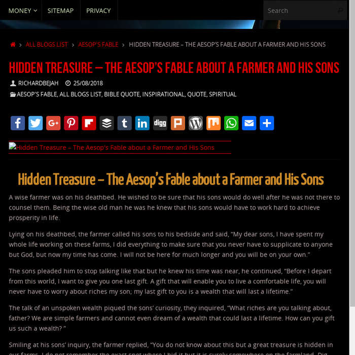 Mix · Hidden Treasure – The Aesop's Fable about a Farmer and His Sons