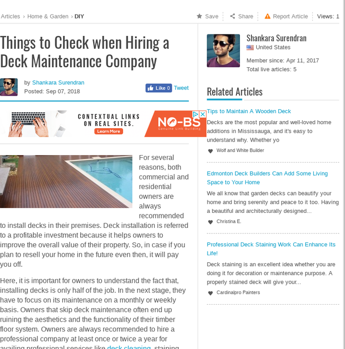 Articles Abilogic Things To Check When Hiring A Deck Maintenance Companyfor Several Reasons Both Commercial And Residential Owners Are Always