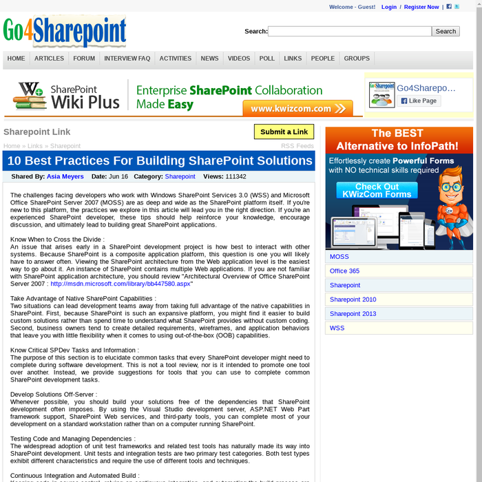 Mix · 10 Best Practices For Building SharePoint Solutions