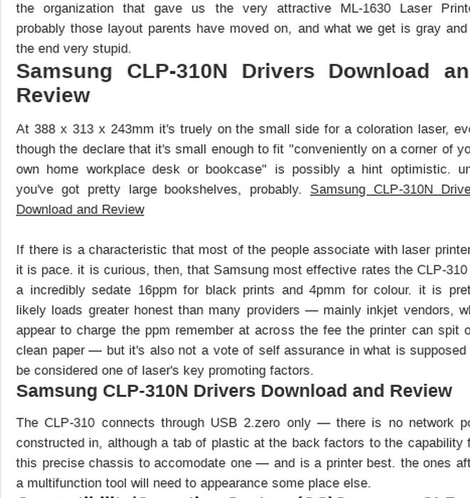 Samsung clp-315 windows 7 64-bit printer driver download by.