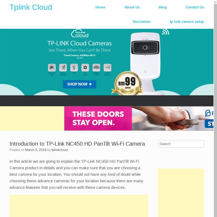 Mix · Introduction to TP-Link NC450 HD PanTilt Wi-Fi Camera - Tplink