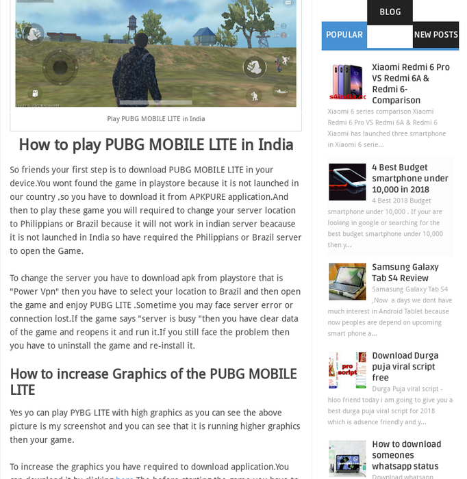 wahabtech · PUBG MOBILE LITE GAME · Posts