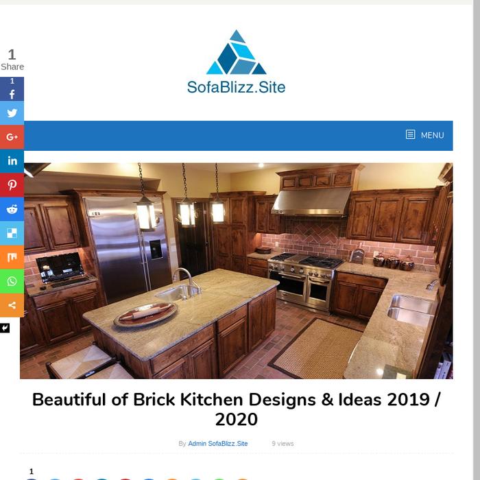 Mix Beautiful Of Brick Kitchen Designs Ideas 48 48 Amazing Kitchen Design Websites Collection