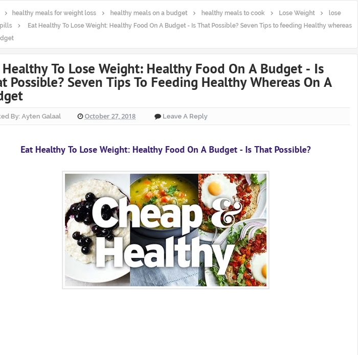 Mix Eat Healthy To Lose Weight Healthy Food On A Budget Is That